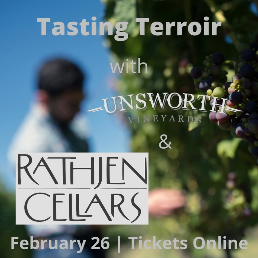 Tasting Terroir - Rathjen Cellars and Unsworth Vineyards Winemakers' Dinner
